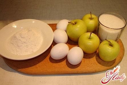 ингредиенты для яблочного пирога в мультиварке