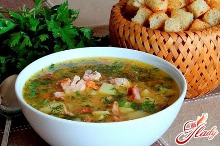 простой рецепт горохового супа с копченостями