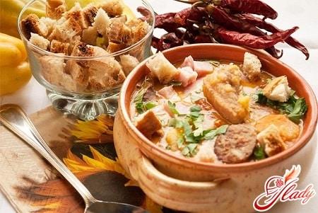 Рецепты горохового супа с копченостями