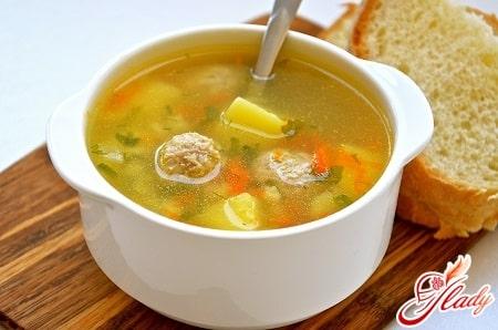 Рецепты приготовления супа с рисом и фрикадельками
