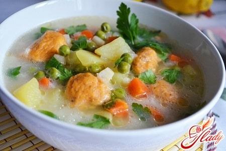 вкусный куриный суп с клецками