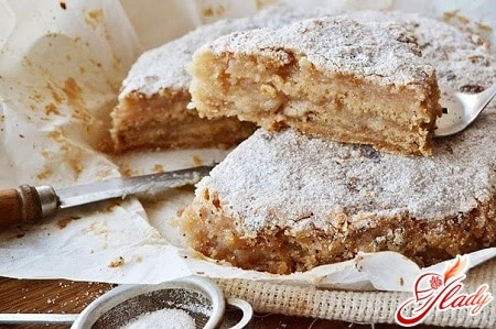 рецепт сухого яблочного пирога