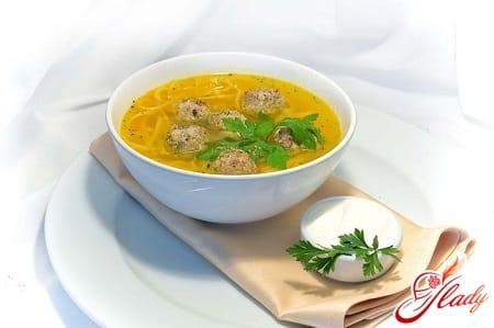 рецепты супа с фрикадельками