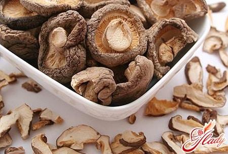 процесс высушивания грибов