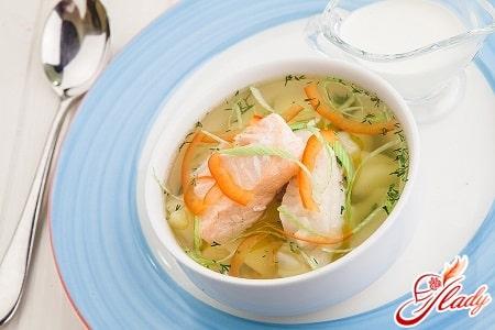 Рецепт супа из горбуши для ребенка