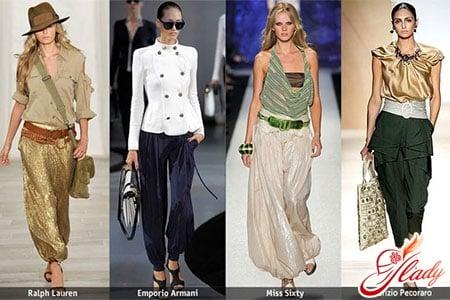 Женские брюки 2016: шаровары и кюлоты