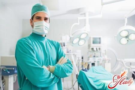 Хирургическое вмешательство при геморрое