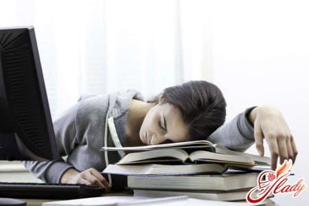 Чувство усталости при снижении уровня сахара