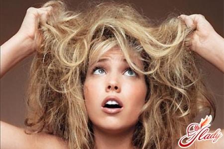 Увлажняющая маска при чрезмерной сухости волос