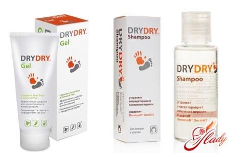 Dry Dry гель и шампунь при излишнем потоотделении