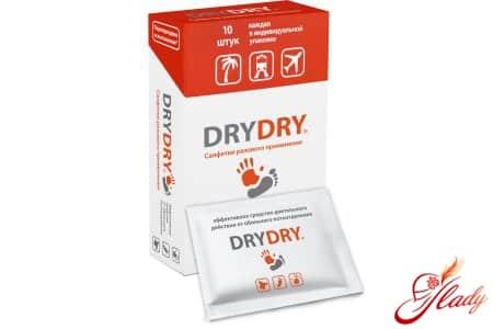 Удобные салфетки Dry Dry в индивидуальной упаковке