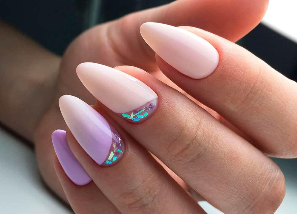 Цветовая палитра на длинные ногтевые пластины