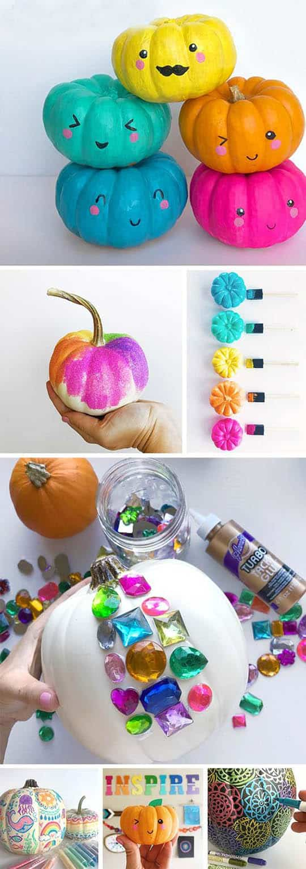 Разноцветные тыквы