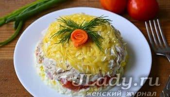 Сытный салат Эдельвейс без грамма картошки для тех, кто не хочет поправляться в праздники