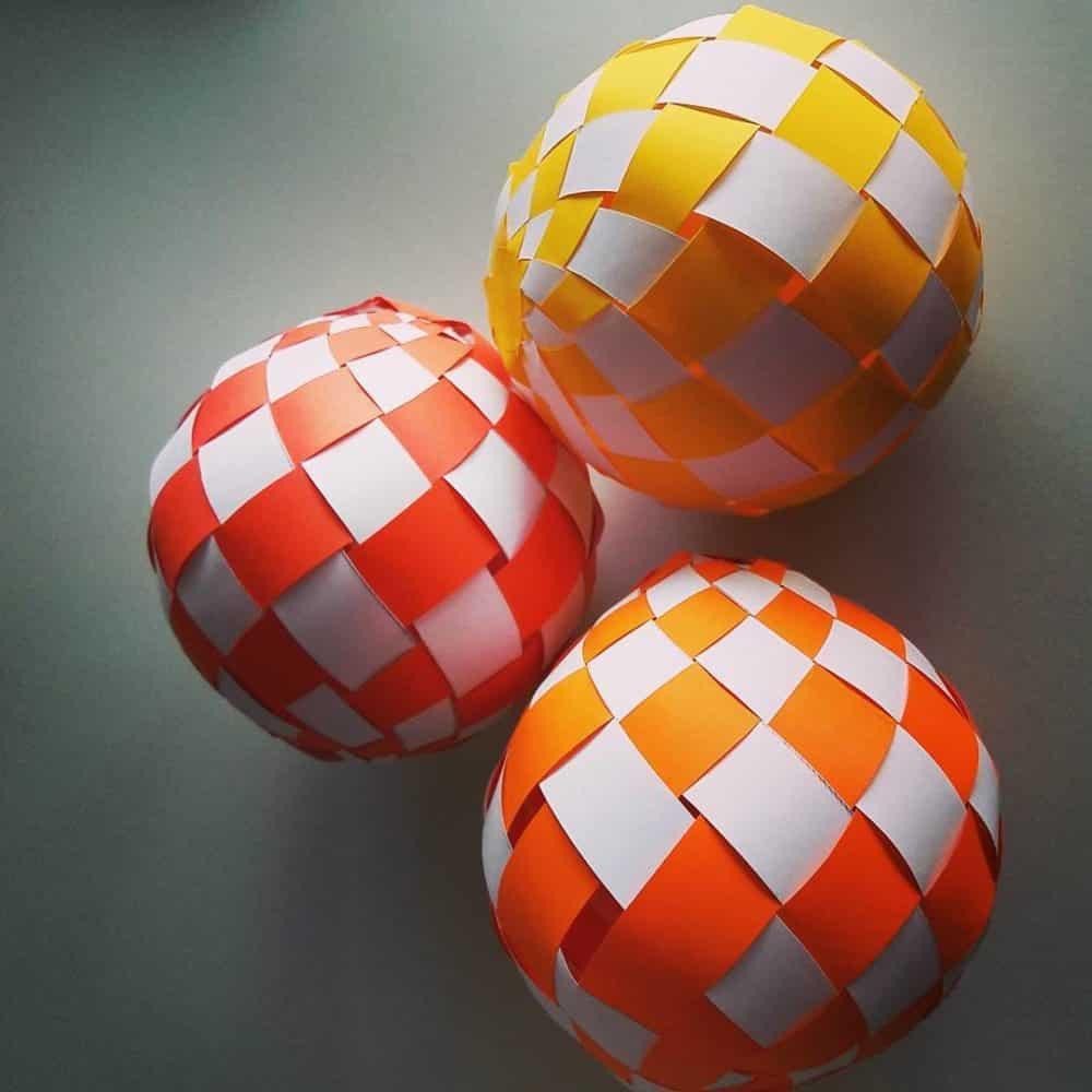 Картинки бумажные шарики