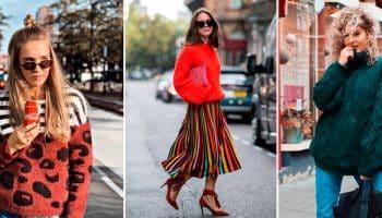 Какие свитера будут в моде в 2019 году: фото-идея ярких и теплых образов